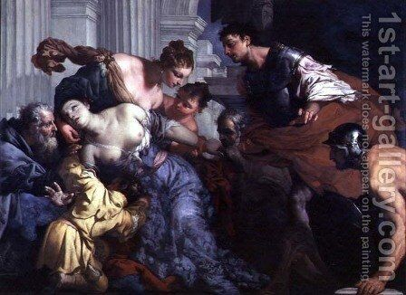The Death of Lucretia by Antonio Zanchi - Reproduction Oil Painting