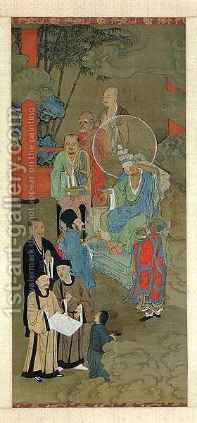 Lohan Manifesting Himself as an Eleven-Headed Guanyin, Chinese, Southern Song Dynasty, c.1178 by Jichang Zhou (or Chou Chi-Ch'ang) - Reproduction Oil Painting