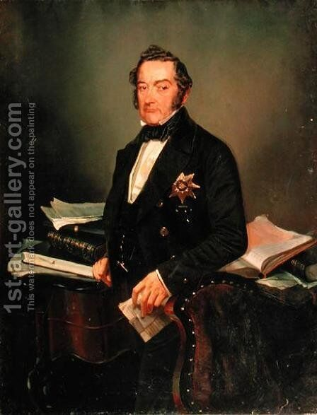 Portrait of Senator Ivan Tolstoy (1792-1854) by Mihaly von Zichy - Reproduction Oil Painting