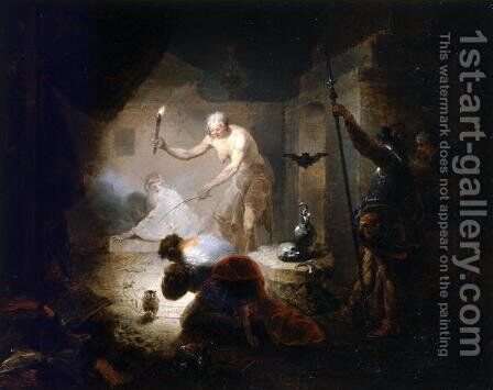 Saul and the Witch of Endor, 1753 by Januarius Zick - Reproduction Oil Painting