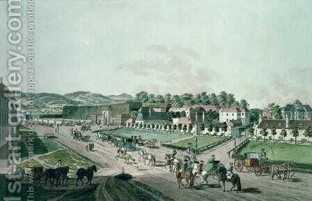 View of the Augarten Palace and Park, Vienna by Johann Ziegler - Reproduction Oil Painting