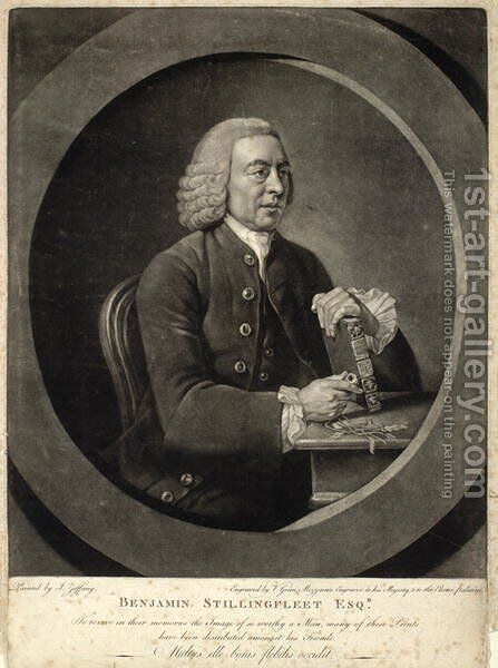 Benjamin Stillingfleet by Johann Zoffany - Reproduction Oil Painting