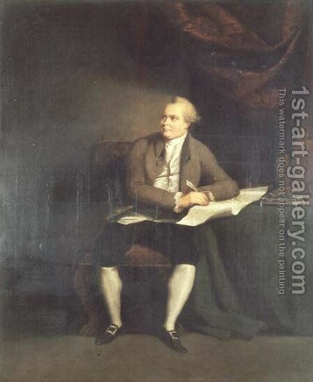 Daniel Carl Solander, Swedish Botanist, accompanied Sir Joseph Banks on Captain Cooks First Voyage (1768-71) by Johann Zoffany - Reproduction Oil Painting