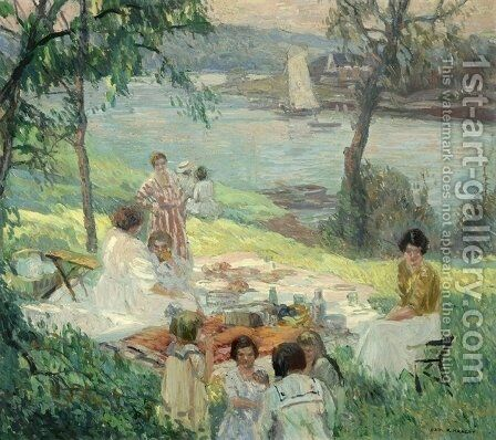 The outing by Carl Rudolph Krafft - Reproduction Oil Painting