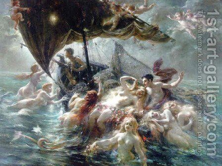 Song of the seas, 1912 by Adolphe LaLyre (Lalire) - Reproduction Oil Painting