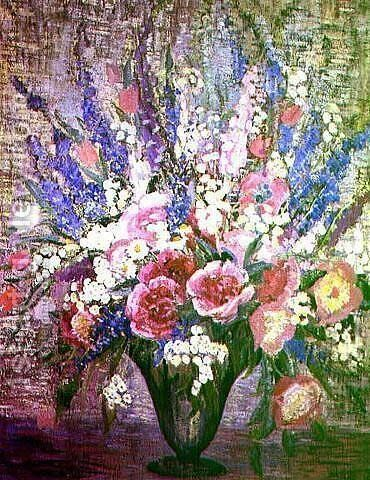 Still Life with Wild Flowers by Dorothea M. Litzinger - Reproduction Oil Painting