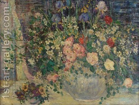Spring flowers by Dorothea M. Litzinger - Reproduction Oil Painting