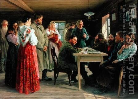 A District Court, 1888 by Mikhail Ivanovich Zoshchenko - Reproduction Oil Painting
