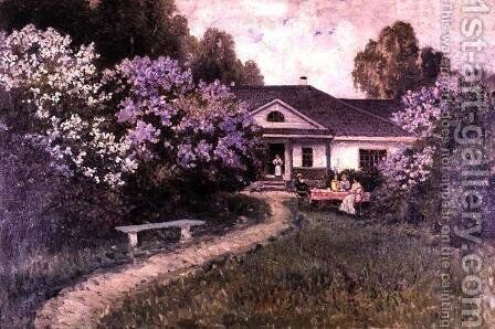 Lilacs by A. S. Yegornov - Reproduction Oil Painting