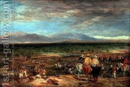 The Battle of Chilianwala, India, 13th January 1849, c.1849 by Charles Becher Young - Reproduction Oil Painting