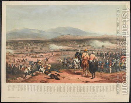 Battle of Chillianwallah on the 13th of January, 1849 by Charles Becher Young - Reproduction Oil Painting