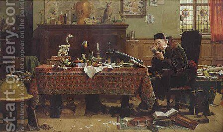 The bookworm by Henry Stacy Marks - Reproduction Oil Painting