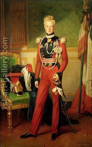 Louis-Charles-Philippe of Orleans (1814-96) Duke of Nemours, 1833 by Anton van Ysendyck - Reproduction Oil Painting