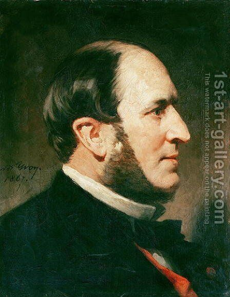 Baron Georges Eugene Haussmann (1809-91) 1867 by Adolphe Yvon - Reproduction Oil Painting