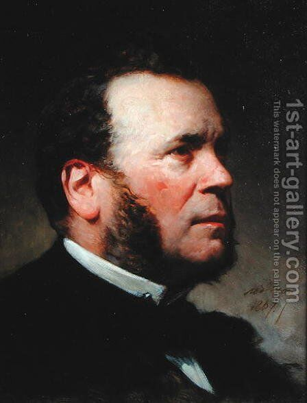 Portrait of Ferdinand Barrot (1806-83) 1867 by Adolphe Yvon - Reproduction Oil Painting