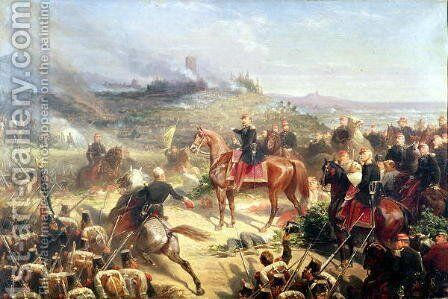Battle of Solferino, 24th June 1859 by Adolphe Yvon - Reproduction Oil Painting