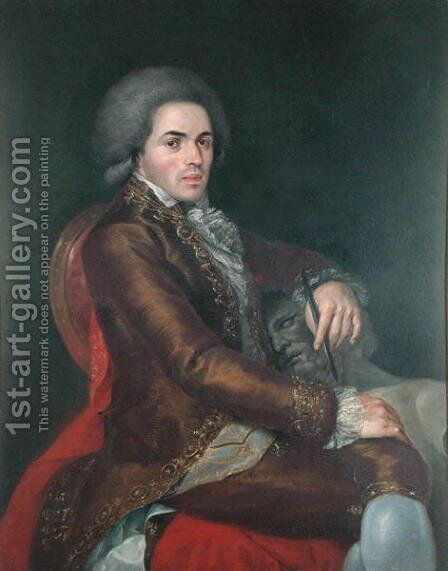Portrait of Manuel Tolsa by (after) Ximeno y Planes, Rafael - Reproduction Oil Painting