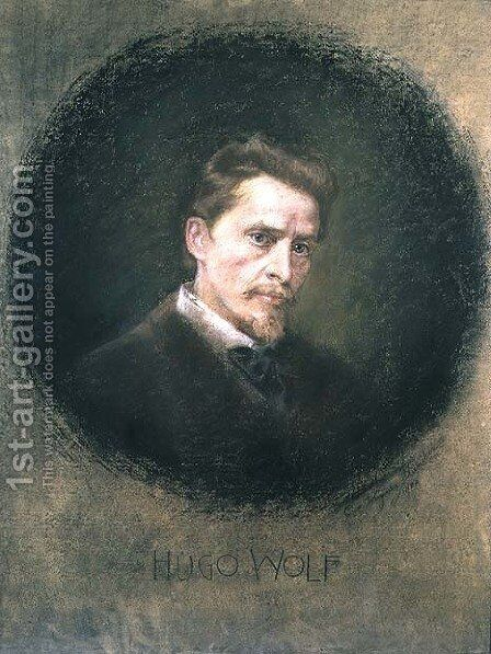Hugo Wolf (1860-1903), 1902 by Clementine Wagner - Reproduction Oil Painting