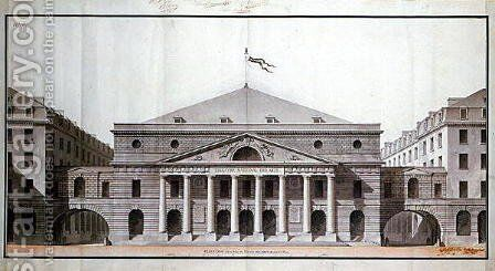 Design for a Theatre National des Arts on the site of the present Theatre de lOdeon, 1794 by Charles de Wailly - Reproduction Oil Painting