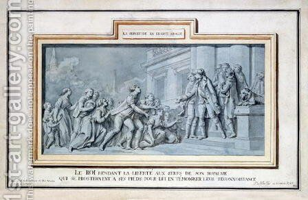 Servitude in France is Abolished, 1783 by Charles de Wailly - Reproduction Oil Painting