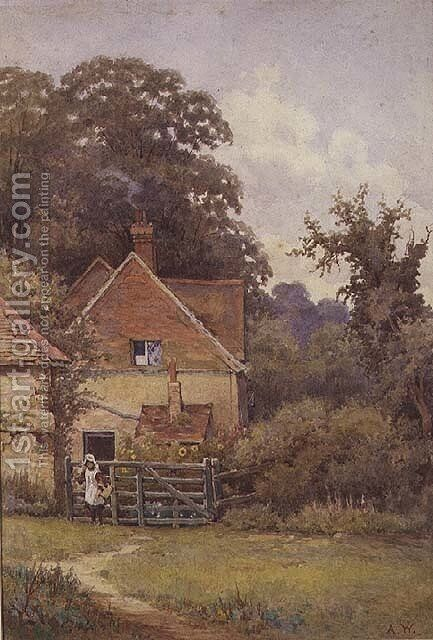 A Cottage on the Felday Road at Abinger Hammer by Arthur Waite - Reproduction Oil Painting