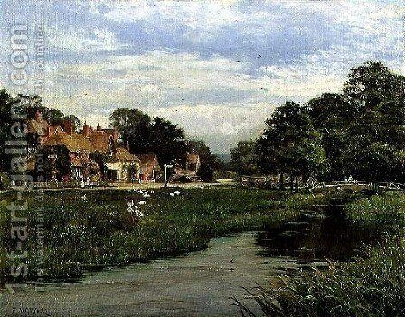 June in a Surrey Village (Abinger Hammer) 1902 by Edward Wilkins Waite - Reproduction Oil Painting