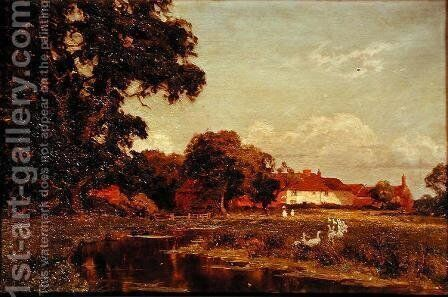 Afterglow, Woolhampton by Edward Wilkins Waite - Reproduction Oil Painting