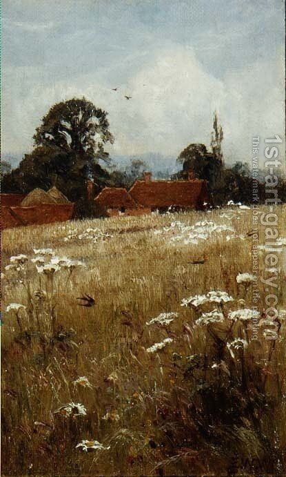 Summer Swallows, near Brockham, Surrey by Edward Wilkins Waite - Reproduction Oil Painting