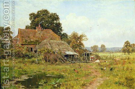 An Old Cottage in the Meadows, 1913 by Edward Wilkins Waite - Reproduction Oil Painting