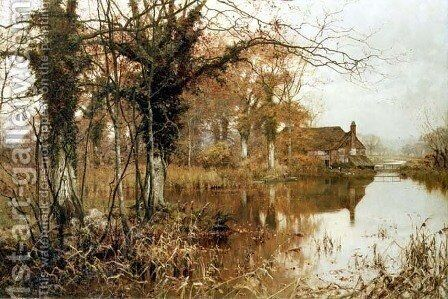 The Fall of the Leaf, 1896 by Edward Wilkins Waite - Reproduction Oil Painting