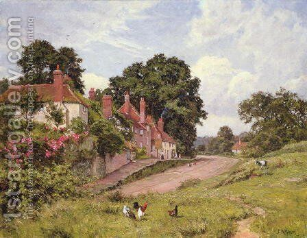 The Terrace at Fittleworth, Sussex, 1918 by Edward Wilkins Waite - Reproduction Oil Painting