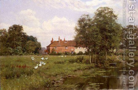 Summer Evening: Woolhampton, Berkshire, 1898 by Edward Wilkins Waite - Reproduction Oil Painting