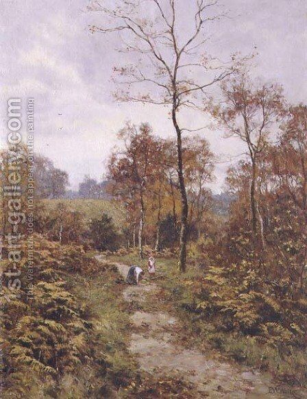 A Woodland Path in Autumn, 1918 by Edward Wilkins Waite - Reproduction Oil Painting