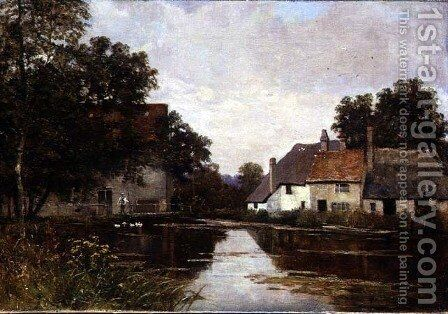 Mill on the Cam, Shepreth Mill, near Cambridge, 1902 by Edward Wilkins Waite - Reproduction Oil Painting