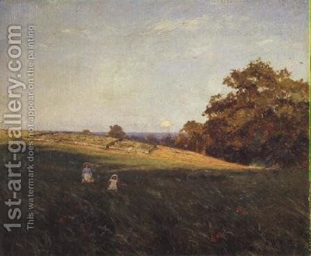 Evening Glow on a Sheepfold, 1896 by Edward Wilkins Waite - Reproduction Oil Painting