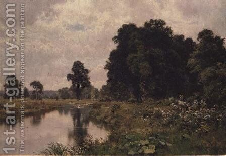 In The Summer Meadows, Woolhampton by Edward Wilkins Waite - Reproduction Oil Painting