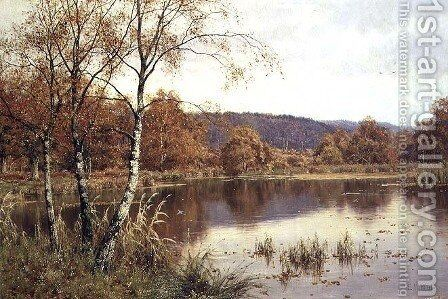 Late Autumn Solitude, 1916 by Edward Wilkins Waite - Reproduction Oil Painting
