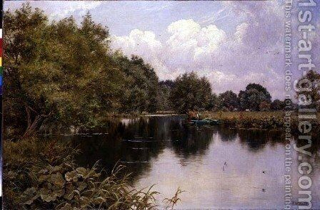 August on the Kennet, Speen, Berkshire, 1916 by Edward Wilkins Waite - Reproduction Oil Painting