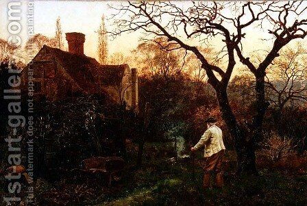 Evening, Brockham by Edward Wilkins Waite - Reproduction Oil Painting