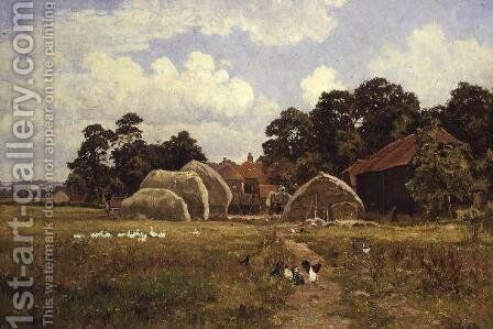 A Sussex Farm, near Fittleworth, Sussex, 1923 by Edward Wilkins Waite - Reproduction Oil Painting