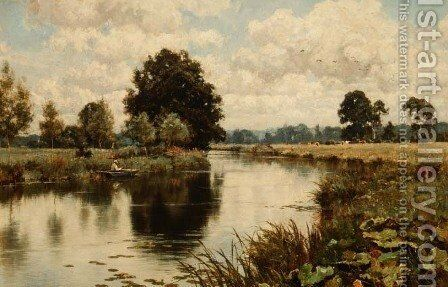 Late Summer on the River Mole, near Dorking, 1911 by Edward Wilkins Waite - Reproduction Oil Painting