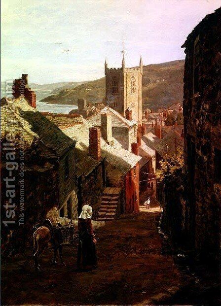 Old St. Ives by Edward Wilkins Waite - Reproduction Oil Painting