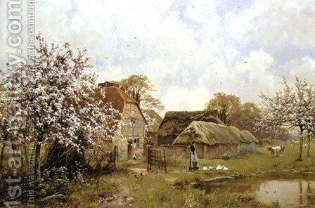 Near Brockham, Surrey, 1897 by Edward Wilkins Waite - Reproduction Oil Painting