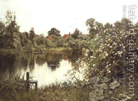 The Time of Wild Roses, Paddington Mill Pond, Surrey, 1900 by Edward Wilkins Waite - Reproduction Oil Painting