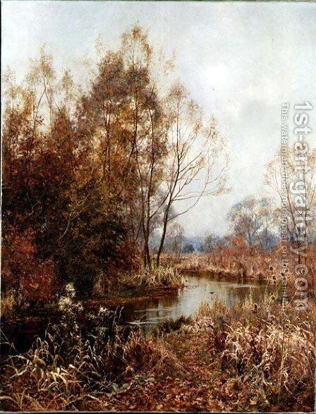 Autumn's Gold and Silver, 1902 by Edward Wilkins Waite - Reproduction Oil Painting