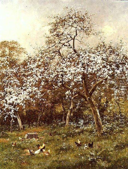 In my Neighbour's Orchard, 1918 by Edward Wilkins Waite - Reproduction Oil Painting
