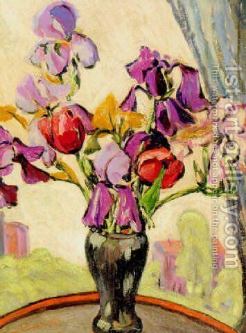 Aiken iris by Minnie Harms Neebe - Reproduction Oil Painting