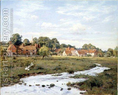 Summer Evening - Abinger Hammer, Surrey, 1894 by Edward Wilkins Waite - Reproduction Oil Painting