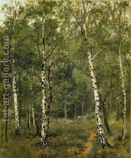 Silver Birches, Fittleworth Common, Sussex by Edward Wilkins Waite - Reproduction Oil Painting