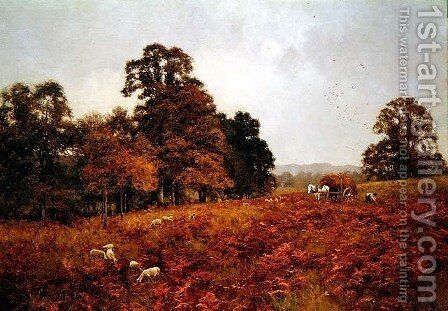 The Touch of Autumn (on Abinger Roughs, Surrey) by Edward Wilkins Waite - Reproduction Oil Painting
